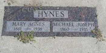 HYNES, MARY AGNES - Dakota County, Nebraska | MARY AGNES HYNES - Nebraska Gravestone Photos