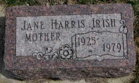HARRIS IRISH, JANE - Dakota County, Nebraska | JANE HARRIS IRISH - Nebraska Gravestone Photos