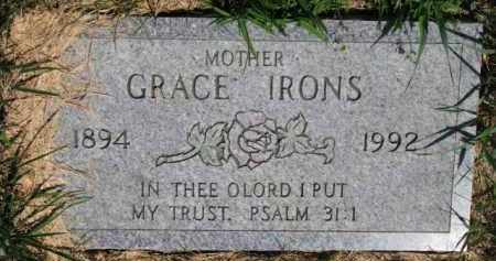 IRONS, GRACE - Dakota County, Nebraska | GRACE IRONS - Nebraska Gravestone Photos
