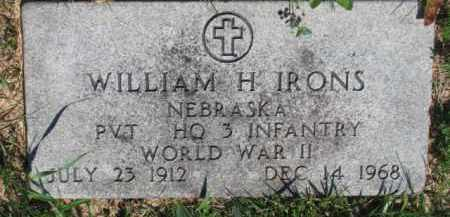 IRONS, WILLIAM H. - Dakota County, Nebraska | WILLIAM H. IRONS - Nebraska Gravestone Photos