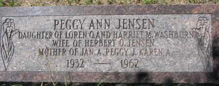 JENSEN, PEGGY ANN - Dakota County, Nebraska   PEGGY ANN JENSEN - Nebraska Gravestone Photos