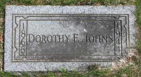 JOHNS, DOROTHY E. - Dakota County, Nebraska   DOROTHY E. JOHNS - Nebraska Gravestone Photos
