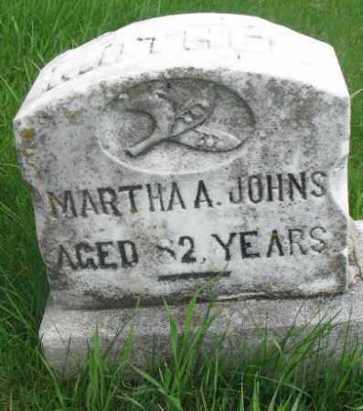 JOHNS, MARTHA A. - Dakota County, Nebraska | MARTHA A. JOHNS - Nebraska Gravestone Photos