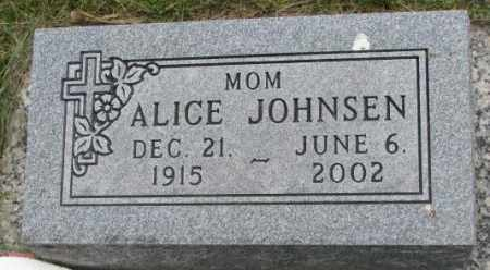 JOHNSEN, ALICE - Dakota County, Nebraska | ALICE JOHNSEN - Nebraska Gravestone Photos