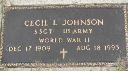 JOHNSON, CECIL L. (WWII) - Dakota County, Nebraska | CECIL L. (WWII) JOHNSON - Nebraska Gravestone Photos