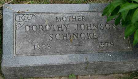 SCHINCKE JOHNSON, DOROTHY - Dakota County, Nebraska | DOROTHY SCHINCKE JOHNSON - Nebraska Gravestone Photos