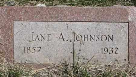 JOHNSON, JANE A. - Dakota County, Nebraska | JANE A. JOHNSON - Nebraska Gravestone Photos