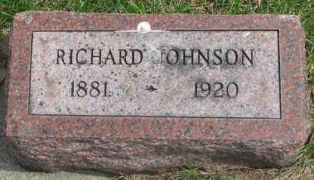 JOHNSON, RICHARD - Dakota County, Nebraska | RICHARD JOHNSON - Nebraska Gravestone Photos