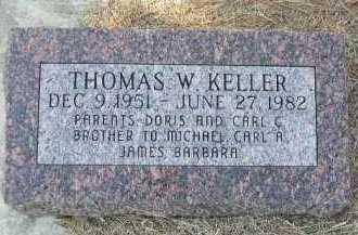 KELLER, THOMAS W. - Dakota County, Nebraska   THOMAS W. KELLER - Nebraska Gravestone Photos