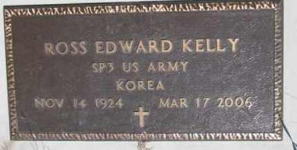 KELLY, ROSS EDWARD (MILITARY MARKER) - Dakota County, Nebraska | ROSS EDWARD (MILITARY MARKER) KELLY - Nebraska Gravestone Photos
