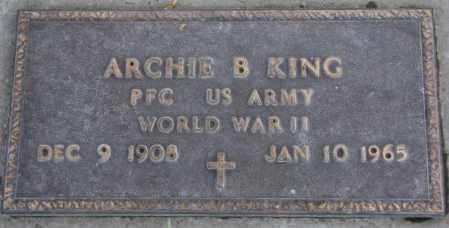 KING, ARCHIE B. - Dakota County, Nebraska | ARCHIE B. KING - Nebraska Gravestone Photos