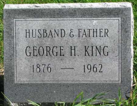 KING, GEORGE H. - Dakota County, Nebraska   GEORGE H. KING - Nebraska Gravestone Photos