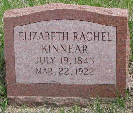 KINNEAR, ELIZABETH RACHEL - Dakota County, Nebraska | ELIZABETH RACHEL KINNEAR - Nebraska Gravestone Photos