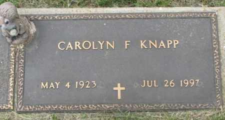 KNAPP, CAROLYN F. - Dakota County, Nebraska | CAROLYN F. KNAPP - Nebraska Gravestone Photos