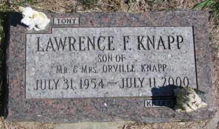 KNAPP, LAWRENCE F. - Dakota County, Nebraska   LAWRENCE F. KNAPP - Nebraska Gravestone Photos