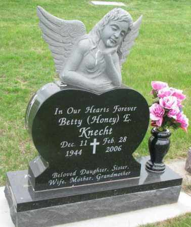 KNECHT, BETTY E. - Dakota County, Nebraska | BETTY E. KNECHT - Nebraska Gravestone Photos