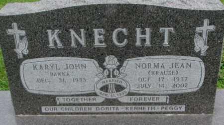 KNECHT, KARYL JOHN - Dakota County, Nebraska | KARYL JOHN KNECHT - Nebraska Gravestone Photos