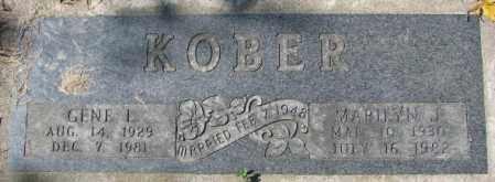 KOBER, MARILYN J. - Dakota County, Nebraska | MARILYN J. KOBER - Nebraska Gravestone Photos