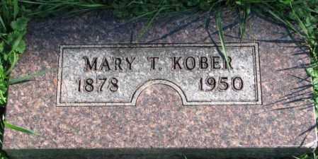 KOBER, MARY T. - Dakota County, Nebraska | MARY T. KOBER - Nebraska Gravestone Photos