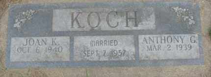 KOCH, JOAN K. - Dakota County, Nebraska | JOAN K. KOCH - Nebraska Gravestone Photos
