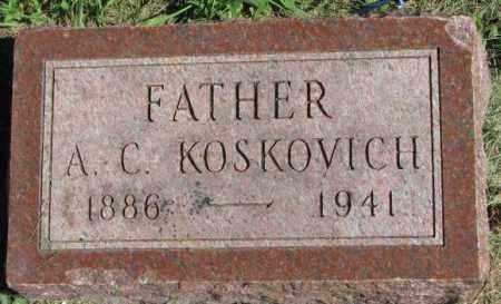 KOSKOVICH, A.C. - Dakota County, Nebraska | A.C. KOSKOVICH - Nebraska Gravestone Photos