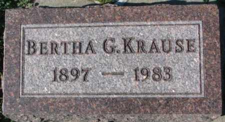 KRAUSE, BERTHA G. - Dakota County, Nebraska   BERTHA G. KRAUSE - Nebraska Gravestone Photos