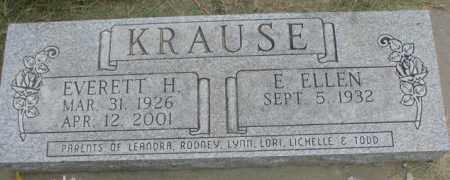 KRAUSE, E. ELLEN - Dakota County, Nebraska | E. ELLEN KRAUSE - Nebraska Gravestone Photos