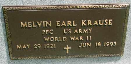 KRAUSE, MELVIN EARL (WW II) - Dakota County, Nebraska | MELVIN EARL (WW II) KRAUSE - Nebraska Gravestone Photos
