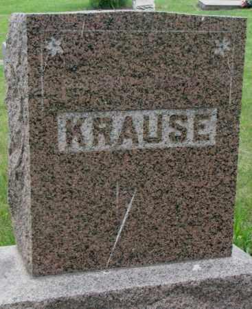 KRAUSE, PLOT - Dakota County, Nebraska   PLOT KRAUSE - Nebraska Gravestone Photos