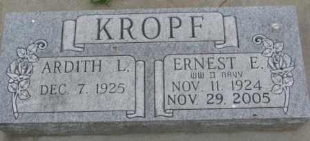 KROPF, ERNEST E. - Dakota County, Nebraska | ERNEST E. KROPF - Nebraska Gravestone Photos