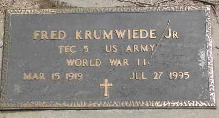 KRUMWIEDE, FRED JR. (WW II) - Dakota County, Nebraska | FRED JR. (WW II) KRUMWIEDE - Nebraska Gravestone Photos
