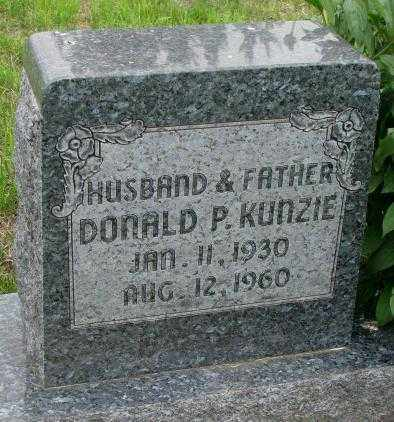 KUNZIE, DONALD P. - Dakota County, Nebraska | DONALD P. KUNZIE - Nebraska Gravestone Photos