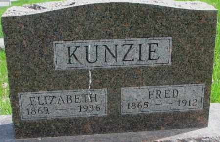 KUNZIE, ELIZABETH - Dakota County, Nebraska | ELIZABETH KUNZIE - Nebraska Gravestone Photos