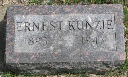 KUNZIE, ERNEST - Dakota County, Nebraska   ERNEST KUNZIE - Nebraska Gravestone Photos