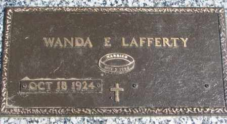 LAFFERTY, WANDA E. - Dakota County, Nebraska | WANDA E. LAFFERTY - Nebraska Gravestone Photos