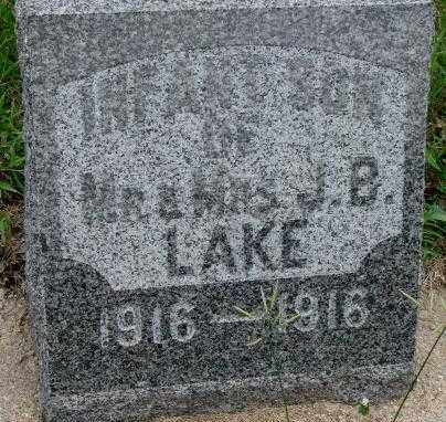 LAKE, INFANT SON - Dakota County, Nebraska | INFANT SON LAKE - Nebraska Gravestone Photos