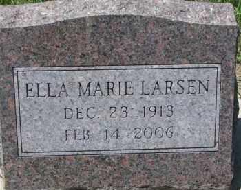LARSEN, ELLA MARIE - Dakota County, Nebraska | ELLA MARIE LARSEN - Nebraska Gravestone Photos