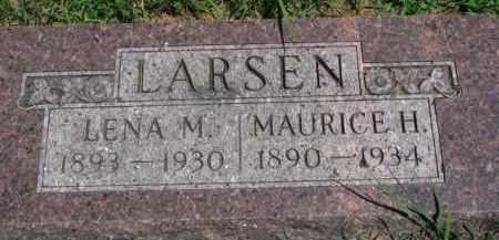 LARSEN, LENA M. - Dakota County, Nebraska   LENA M. LARSEN - Nebraska Gravestone Photos