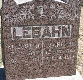 LEBAHN, AUGUST H. - Dakota County, Nebraska | AUGUST H. LEBAHN - Nebraska Gravestone Photos