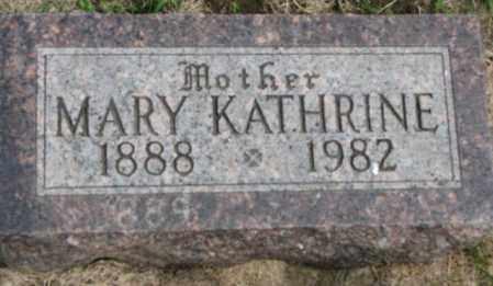 LEBAHN, MARY KATHRINE - Dakota County, Nebraska   MARY KATHRINE LEBAHN - Nebraska Gravestone Photos