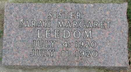 LEEDOM, SARAH MARGARET - Dakota County, Nebraska | SARAH MARGARET LEEDOM - Nebraska Gravestone Photos