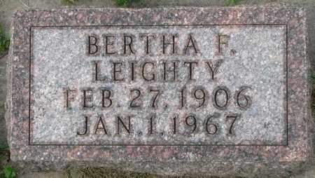 LEIGHTY, BERTHA F. - Dakota County, Nebraska | BERTHA F. LEIGHTY - Nebraska Gravestone Photos