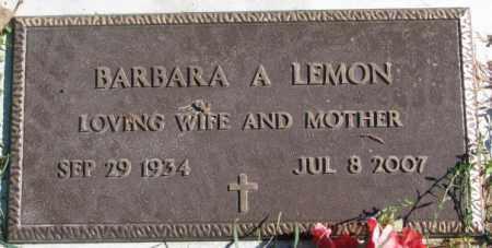 LEMON, BARBARA A. - Dakota County, Nebraska | BARBARA A. LEMON - Nebraska Gravestone Photos