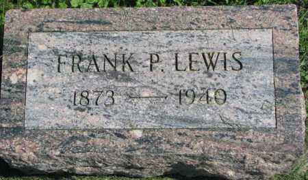 LEWIS, FRANK P. - Dakota County, Nebraska | FRANK P. LEWIS - Nebraska Gravestone Photos
