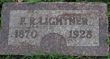 LIGHTNER, F.R. - Dakota County, Nebraska   F.R. LIGHTNER - Nebraska Gravestone Photos