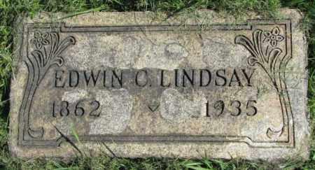 LINDSAY, EDWIN C. - Dakota County, Nebraska | EDWIN C. LINDSAY - Nebraska Gravestone Photos