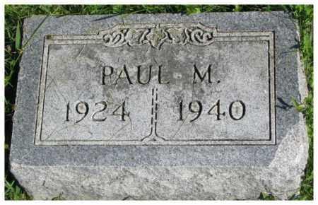 LIPP, PAUL M. - Dakota County, Nebraska | PAUL M. LIPP - Nebraska Gravestone Photos