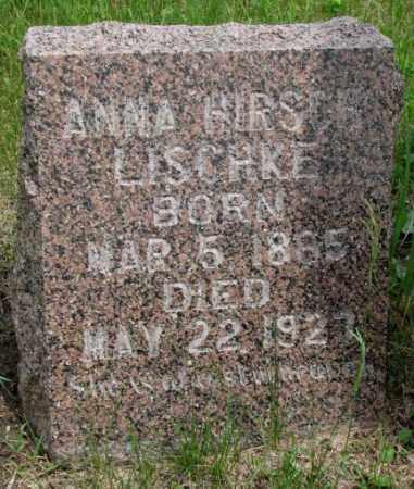 LISCHKE, ANNA - Dakota County, Nebraska   ANNA LISCHKE - Nebraska Gravestone Photos