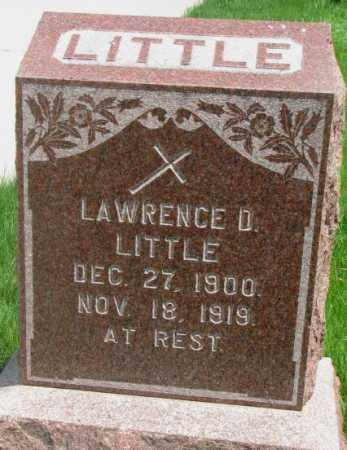 LITTLE, LAWRENCE D. - Dakota County, Nebraska | LAWRENCE D. LITTLE - Nebraska Gravestone Photos