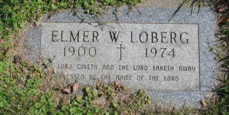 LOBERG, ELMER W. - Dakota County, Nebraska   ELMER W. LOBERG - Nebraska Gravestone Photos